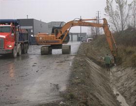 Reprofilage de fossé, Excavation municipale - Génie civil, Groupe Écono Laurentides